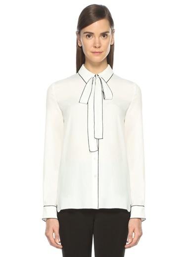 Yakası Bağcıklı Gömlek-Boutique Moschino